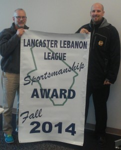 Solanco earned the Fall 2014 LL League Sportsmanship Award as voted on by the LL League AD's
